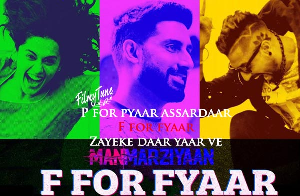 f for fyaar hindi song