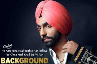 background lyrics punjabi song