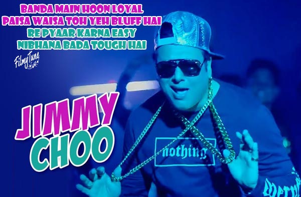 jimmy choo lyrics bollywood song
