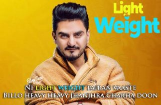 light weight lyrics punjabi song