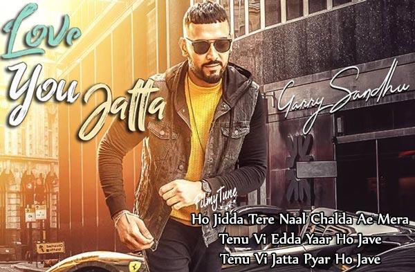 love you jatta lyrics punjabi song