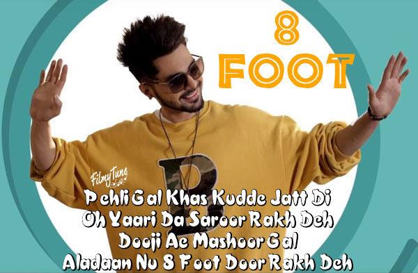 8 foot lyrics punjabi song