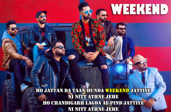 weekend lyrics punjabi song