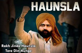 haunsla lyrics punjabi song