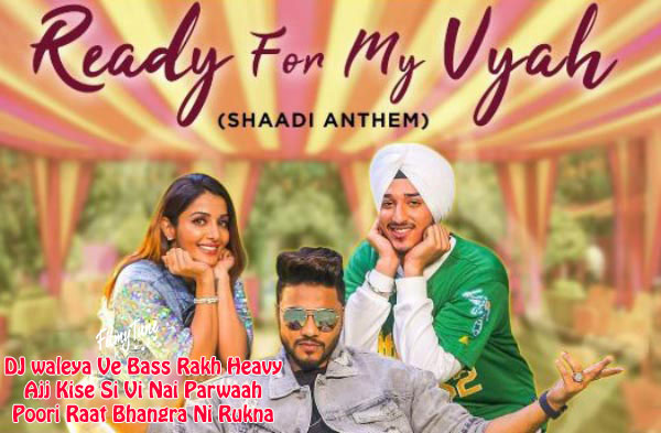 ready for my vyah lyrics punjabi song