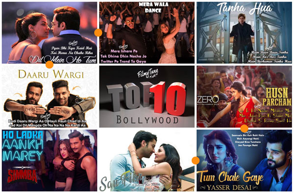 top 10 bollywood songs 2019 week 01