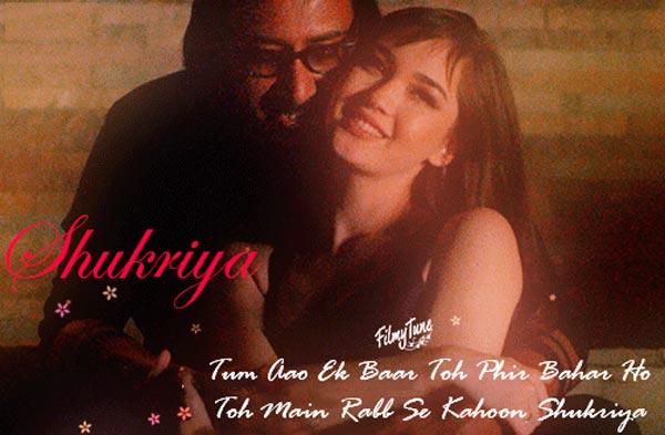 shukriya lyrics album song