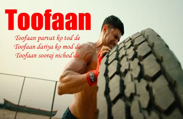Toofaan Title Song Lyrics